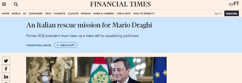 Ecco perché Mario Draghi va sostenuto...